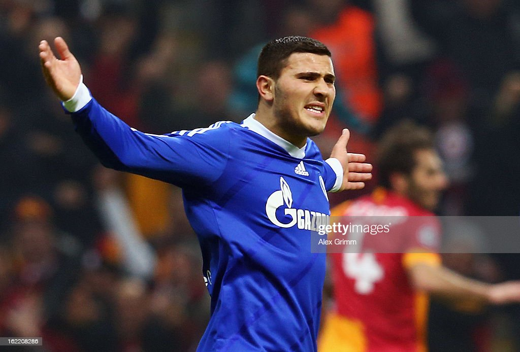 Sead Kolasinac of Schalke reacts during the UEFA Champions League Round of 16 first leg match between Galatasaray and FC Schalke 04 at the Turk Telekom Arena on February 20, 2013 in Istanbul, Turkey.