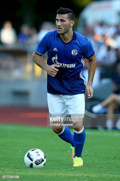Sead Kolasinac of Schalke runs with the ball during the friendly match between DSC WanneEickel and FC Schalke 04 at Mondpalast Arena on July 19 2016...