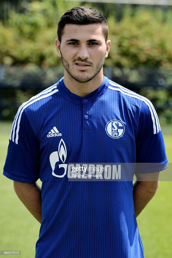 Sead Kolasinac poses during FC Schalke 04 team presentation at Veltins-Arena on July 17, 2014 in Gelsenkirchen, Germany.
