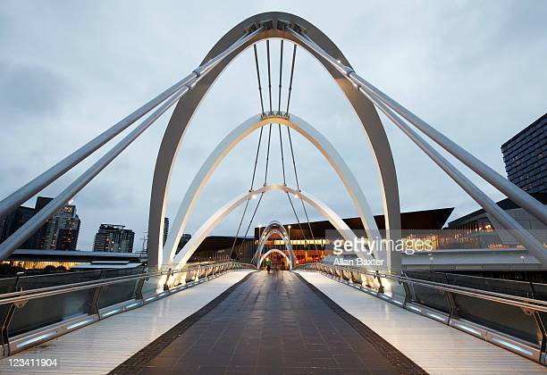 Seafarers bridge at dusk