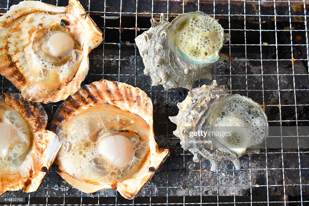 barbecue de poissons et fruits de mer : Photo