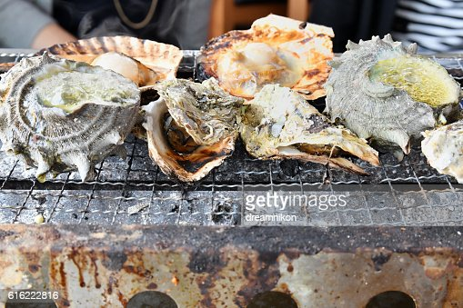 Seafood barbecue : Stockfoto