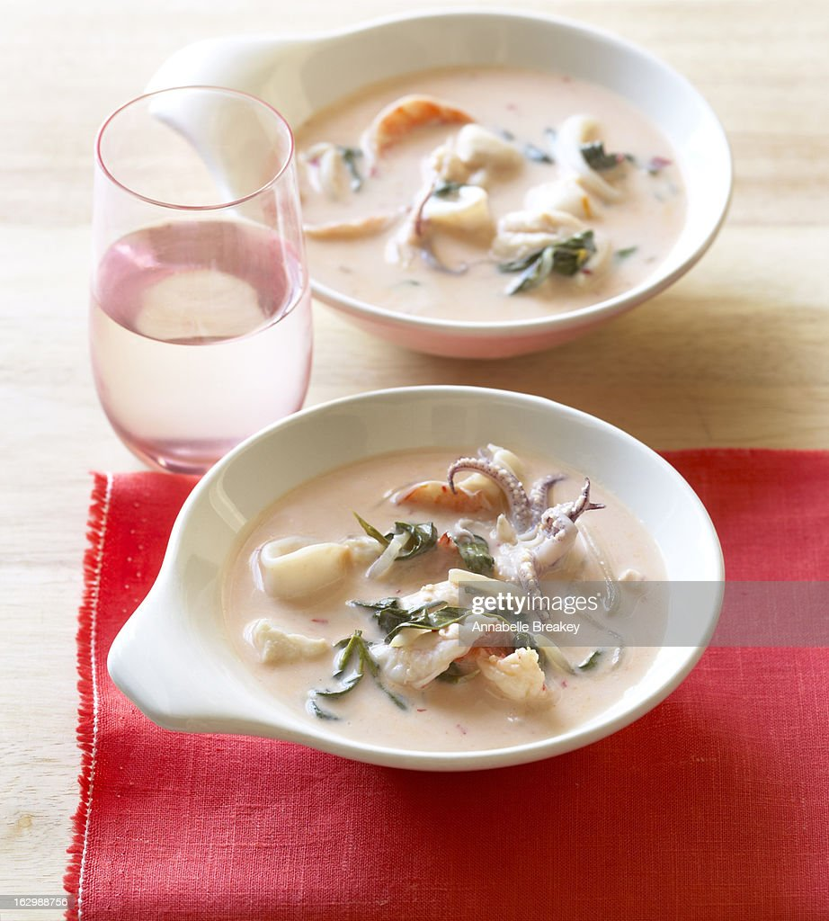 Seafood Curry Stew : Stock Photo