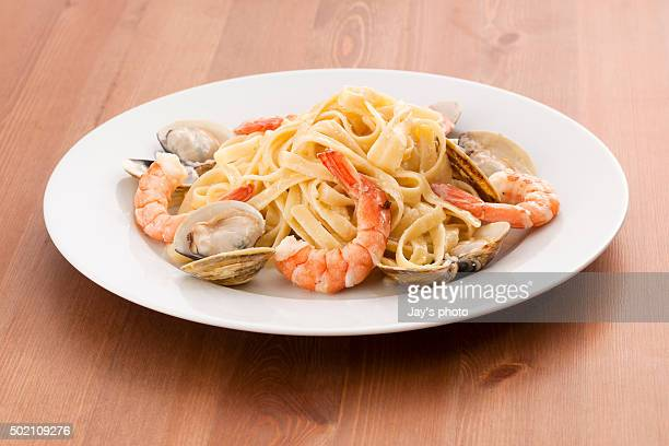 Seafood Fettuccini Alfredo
