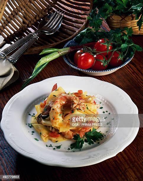 Seafood maltagliati