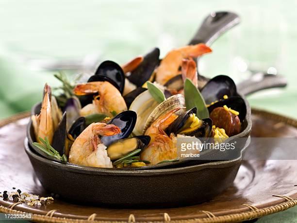 Meeresfrüchte-paella.