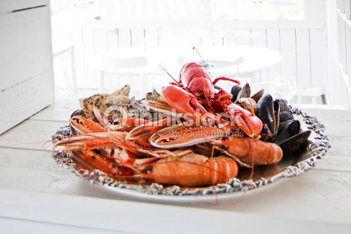 Seafood plate : Stock Photo