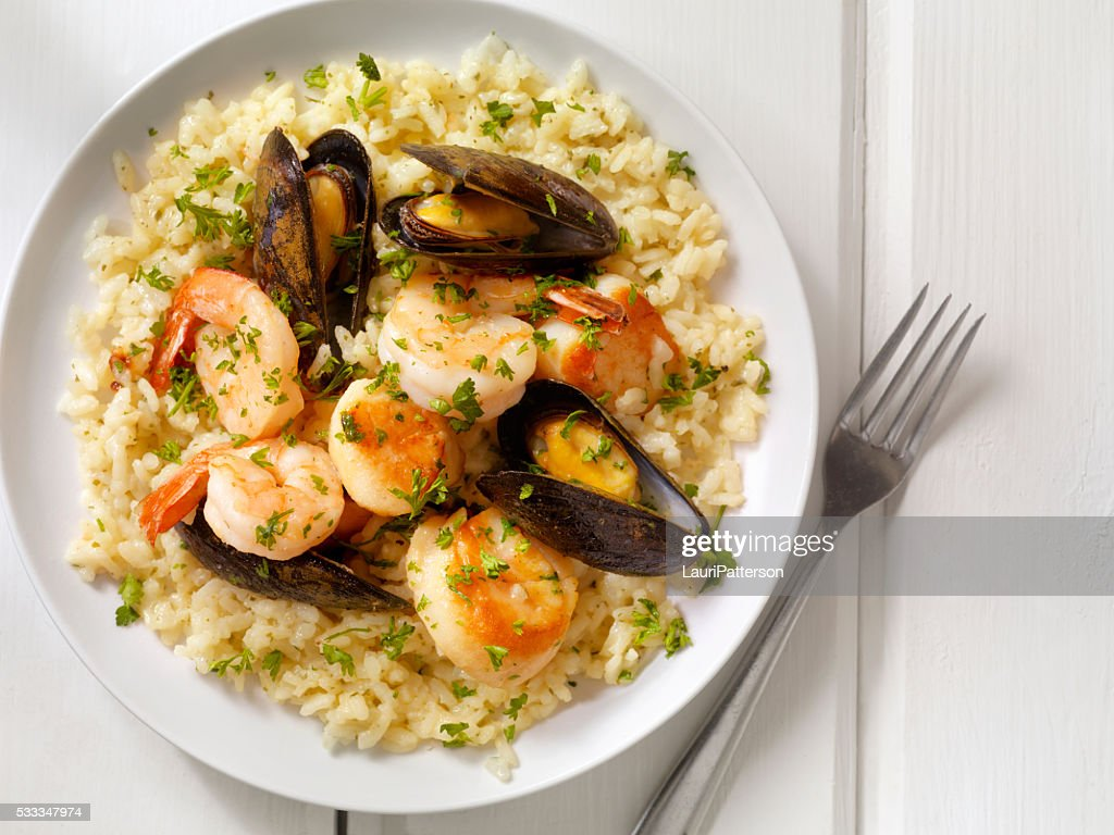 Seafood Risotto with Fresh Parsley