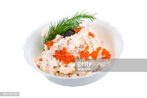 Salada de Frutos do Mar : Foto de stock