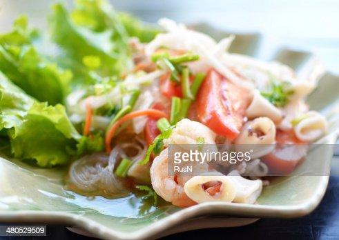 Meeresfrüchte-Salat : Stock-Foto