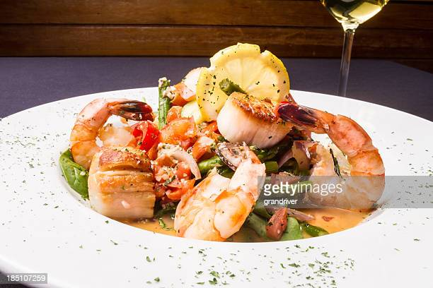 Seafood Scampi and White Wine