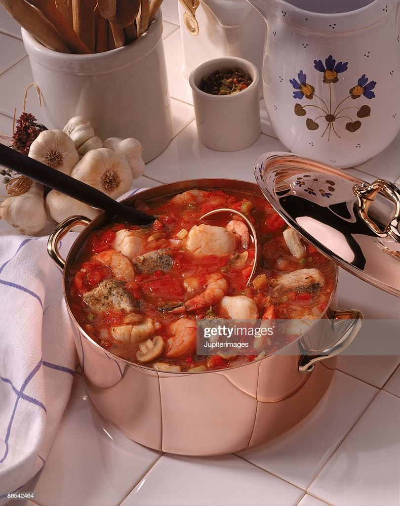 Seafood soup : Stock Photo