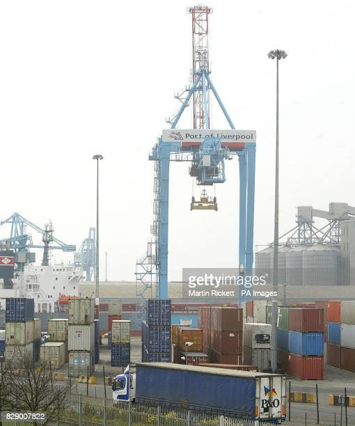 Seaforth docks in Liverpool where cannabis worth an estimated value of 35 million was seized during dock raids on two freight containers police...