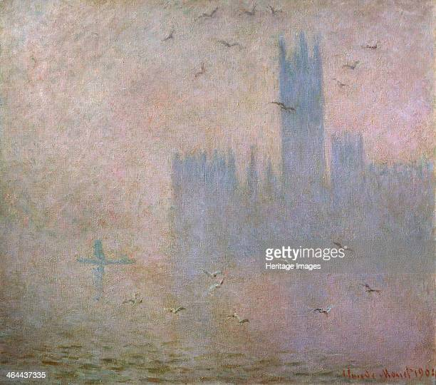 Seagulls The Thames in London The Houses of Parliament' 19031904 Found in the collection of the State A Pushkin Museum of Fine Arts Moscow
