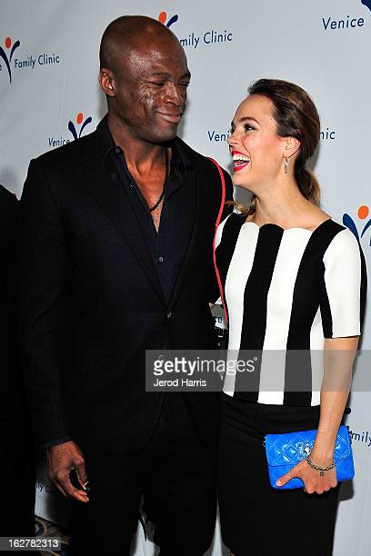 Seal and actress Erin Cahill arrive at the 34th Annual Silver Circle Gala benefitting the Venice Family Clinic at the Beverly Wilshire Four Seasons...