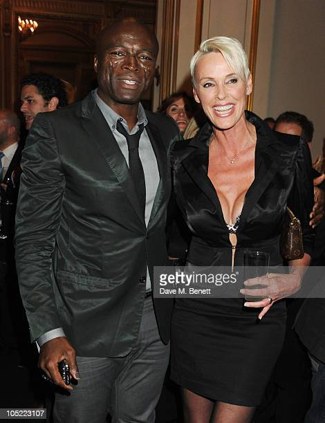 Seal and Brigitte Nielsen attend the global launch of Vertu Constellation Quest at Lancaster House on October 12 2010 in London England