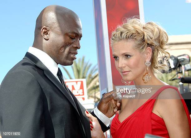 Seal and Heidi Klum during 58th Annual Primetime Emmy Awards Arrivals at Shrine Auditorium in Los Angeles California United States