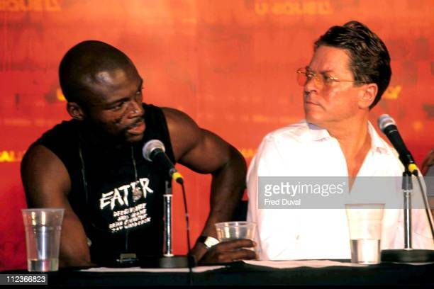 Seal and Robert Palmer during Carlsberg Concert Press Conference August 1 1997 at London in London Great Britain