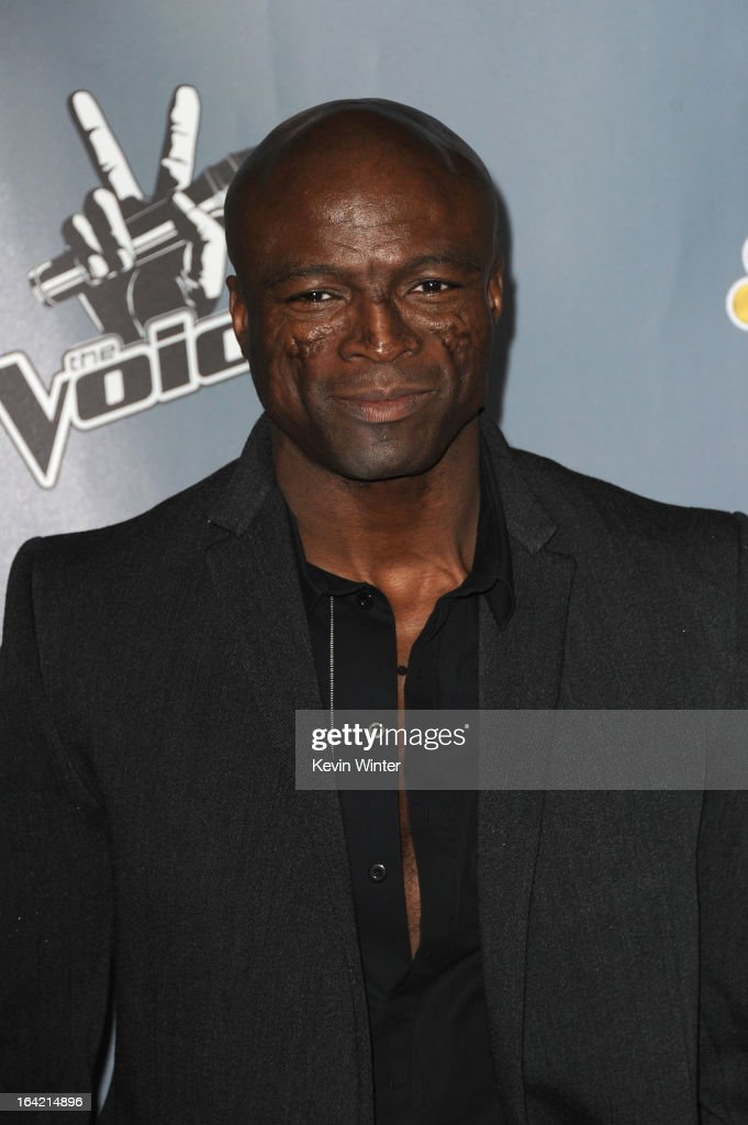 Seal arrives at the screening of NBC's 'The Voice' Season 4 at TCL Chinese Theatre on March 20, 2013 in Hollywood, California.