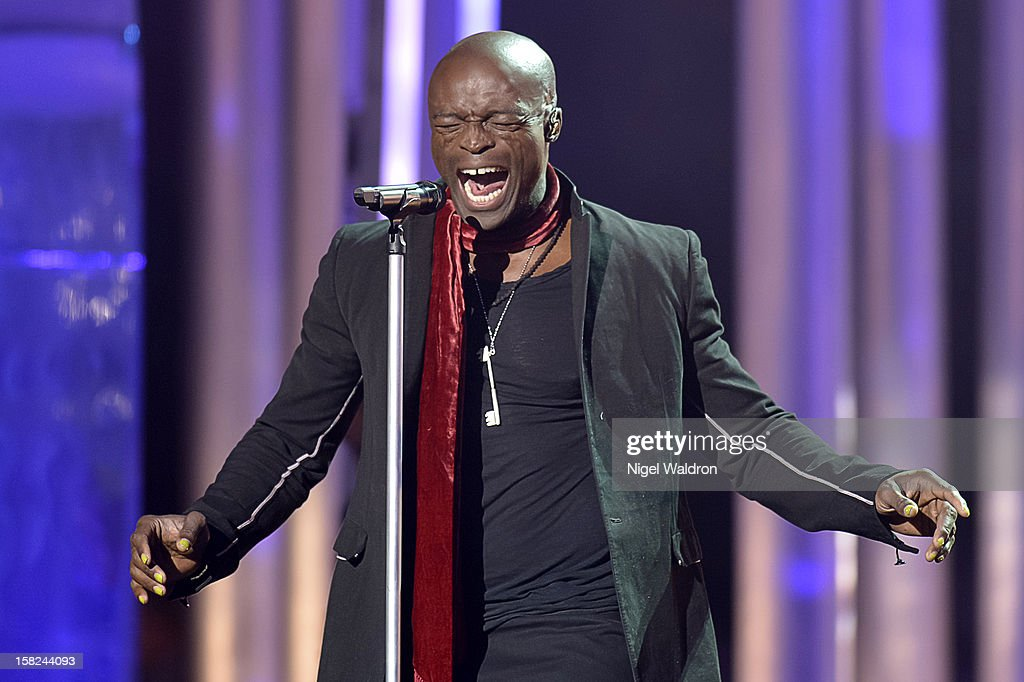 Seal attend the Nobel Peace Prize Concert 2012 at Oslo Spektrum on December 11, 2012 in Oslo, Norway.