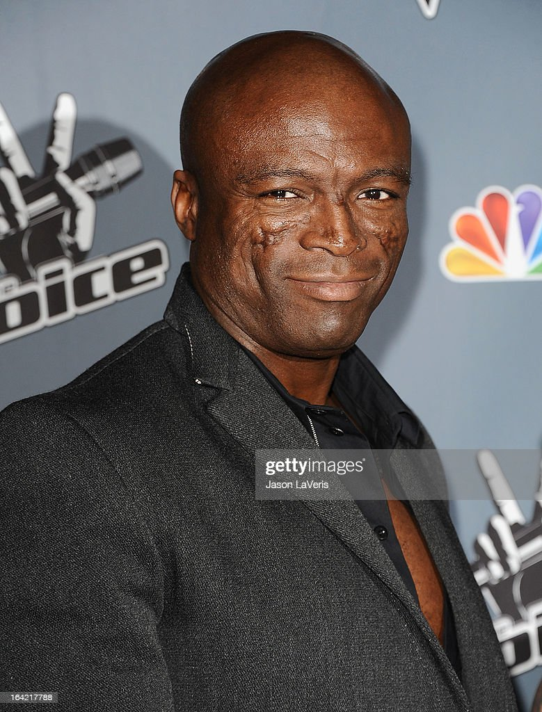 Seal attends NBC's 'The Voice' season 4 premiere at TCL Chinese Theatre on March 20, 2013 in Hollywood, California.