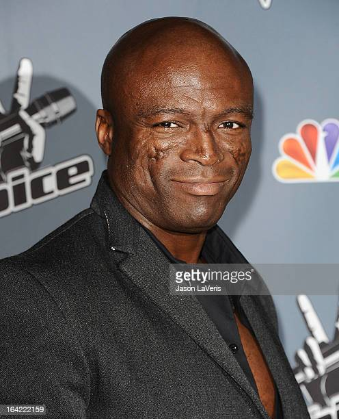 Seal attends NBC's 'The Voice' season 4 premiere at TCL Chinese Theatre on March 20 2013 in Hollywood California