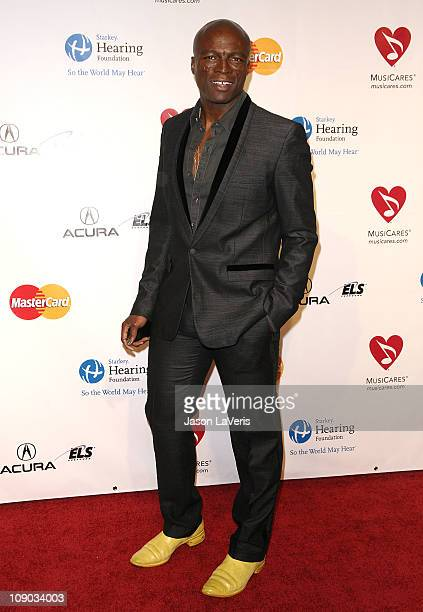 Seal attends the 2011 MusiCares Person of the Year at Los Angeles Convention Center on February 11 2011 in Los Angeles California