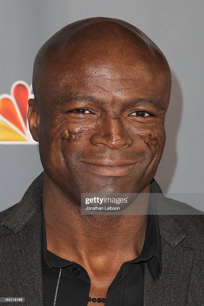 Seal attends the NBC's 'The Voice' Season 4 Premiere at TCL Chinese Theatre on March 20, 2013 in Hollywood, California.