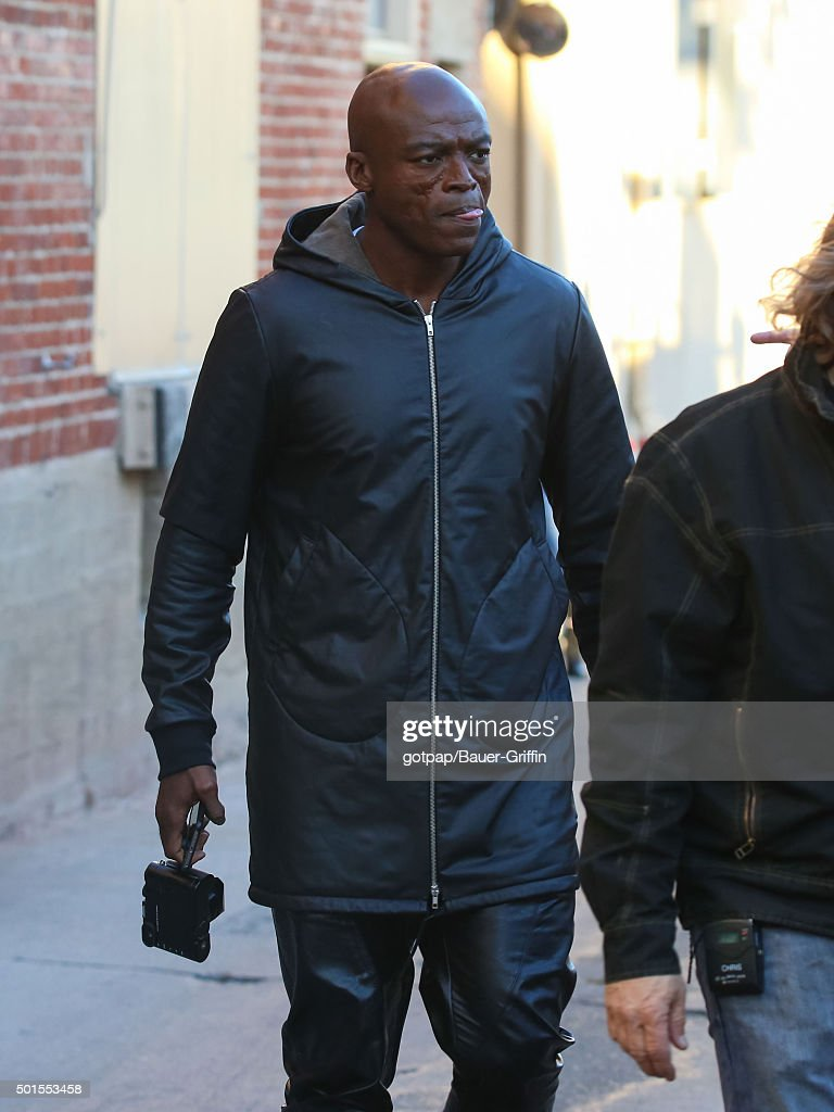 <a gi-track='captionPersonalityLinkClicked' href=/galleries/search?phrase=Seal+-+Singer&family=editorial&specificpeople=202832 ng-click='$event.stopPropagation()'>Seal</a> is seen at 'Jimmy Kimmel Live' on December 15, 2015 in Los Angeles, California.