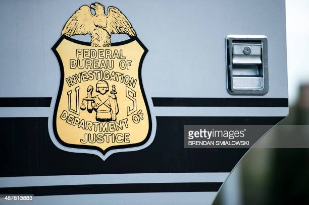 A seal on a door to a Federal Bureau of Investigation mobile command vehicle is seen during an FBI field training exercise at the Landmark Mall May 2...