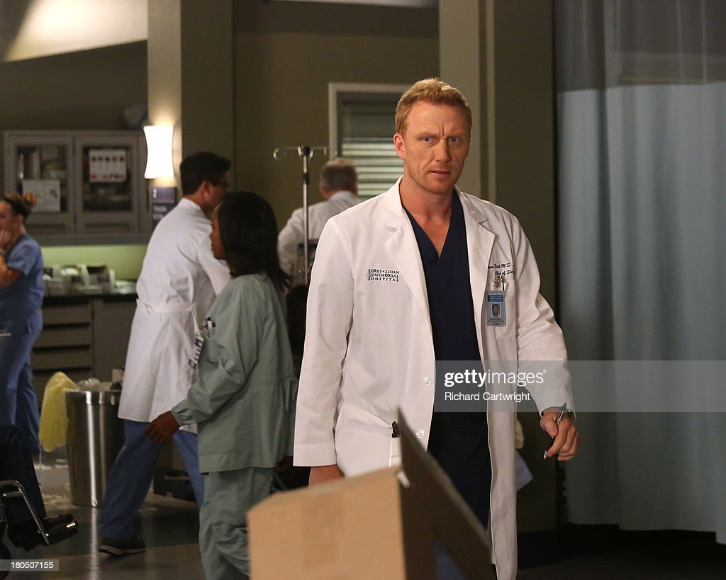S ANATOMY - 'Seal Our Fate' - 'Grey's Anatomy' returns for its monumental tenth season with a two-hour event, THURSDAY, SEPTEMBER 26 (9:00-11:00 p.m., ET) on the ABC Television Network. In the first hour, 'Seal Our Fate' (9:00-10:00 p.m.), the Grey Sloan Memorial Hospital doctors are faced with the devastation left by the storm. A giant mudslide in Seattle injures a group of first responders and citizens, causing the already shorthanded ER to spring into action. Meanwhile, Meredith is faced with a tough decision that will affect the life of a loved one, Callie is rocked by the reality of Arizona's infidelity, and Richard's life is in extreme danger. KEVIN