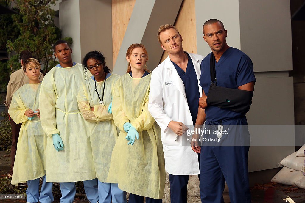 S ANATOMY - 'Seal Our Fate' - 'Grey's Anatomy' returns for its monumental tenth season with a two-hour event, THURSDAY, SEPTEMBER 26 (9:00-11:00 p.m., ET) on the ABC Television Network. In the first hour, 'Seal Our Fate' (9:00-10:00 p.m.), the Grey Sloan Memorial Hospital doctors are faced with the devastation left by the storm. A giant mudslide in Seattle injures a group of first responders and citizens, causing the already shorthanded ER to spring into action. Meanwhile, Meredith is faced with a tough decision that will affect the life of a loved one, Callie is rocked by the reality of Arizona's infidelity, and Richard's life is in extreme danger. TINA