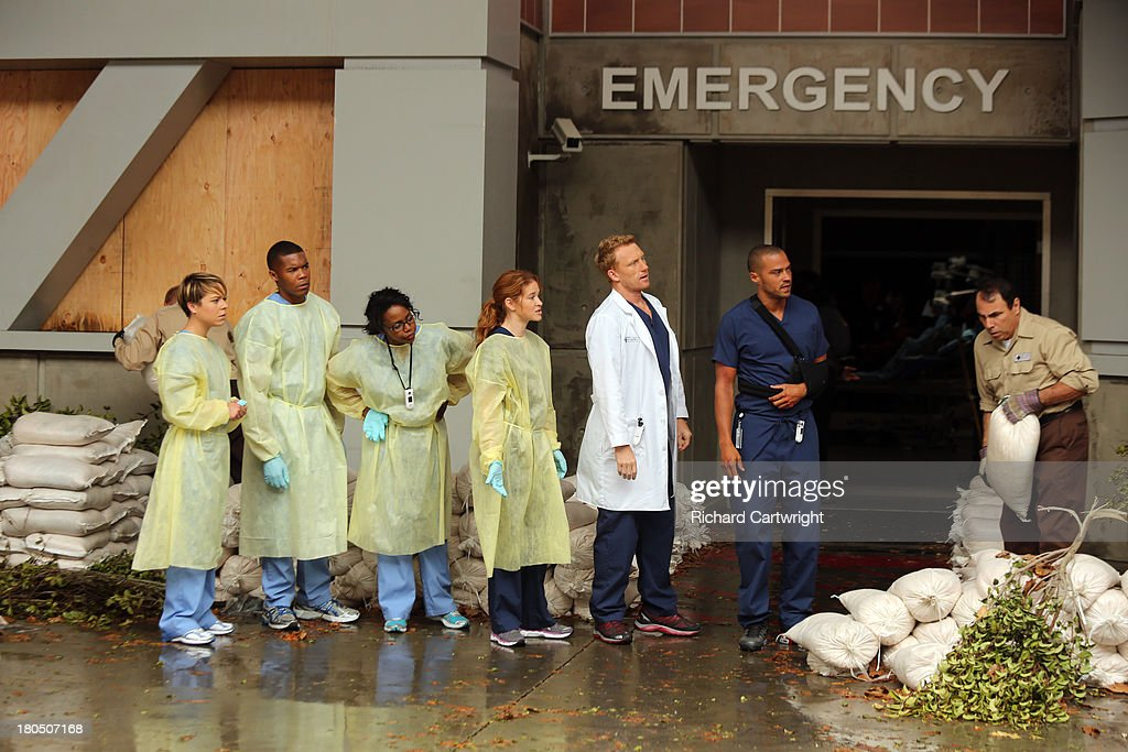 ANATOMY - 'Seal Our Fate' - 'Grey's Anatomy' returns for its monumental tenth season with a two-hour event, THURSDAY, SEPTEMBER 26 (9:00-11:00 p.m., ET) on the ABC Television Network. In the first hour, 'Seal Our Fate' (9:00-10:00 p.m.), the Grey Sloan Memorial Hospital doctors are faced with the devastation left by the storm. A giant mudslide in Seattle injures a group of first responders and citizens, causing the already shorthanded ER to spring into action. Meanwhile, Meredith is faced with a tough decision that will affect the life of a loved one, Callie is rocked by the reality of Arizona's infidelity, and Richard's life is in extreme danger. WILLIAMS