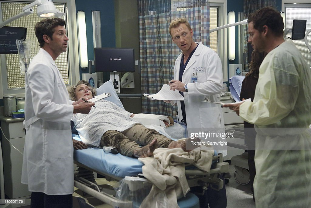ANATOMY - 'Seal Our Fate' - 'Grey's Anatomy' returns for its monumental tenth season with a two-hour event, THURSDAY, SEPTEMBER 26 (9:00-11:00 p.m., ET) on the ABC Television Network. In the first hour, 'Seal Our Fate' (9:00-10:00 p.m.), the Grey Sloan Memorial Hospital doctors are faced with the devastation left by the storm. A giant mudslide in Seattle injures a group of first responders and citizens, causing the already shorthanded ER to spring into action. Meanwhile, Meredith is faced with a tough decision that will affect the life of a loved one, Callie is rocked by the reality of Arizona's infidelity, and Richard's life is in extreme danger. CHAMBERS