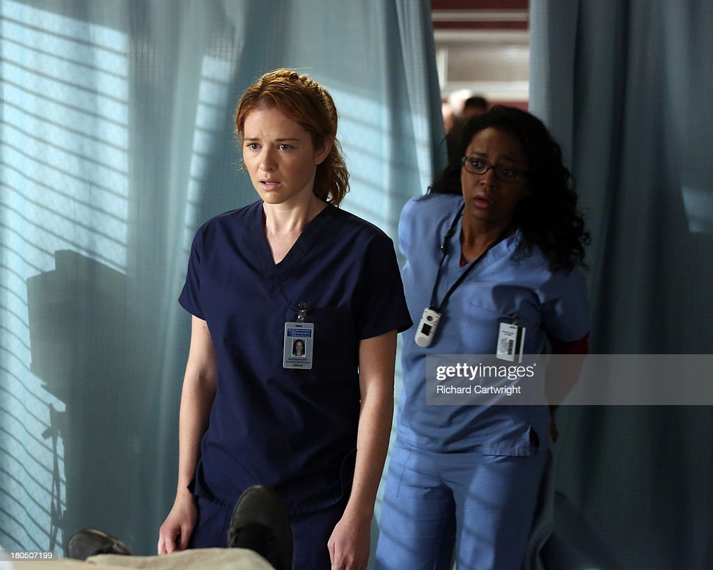 ANATOMY - 'Seal Our Fate' - 'Grey's Anatomy' returns for its monumental tenth season with a two-hour event, THURSDAY, SEPTEMBER 26 (9:00-11:00 p.m., ET) on the ABC Television Network. In the first hour, 'Seal Our Fate' (9:00-10:00 p.m.), the Grey Sloan Memorial Hospital doctors are faced with the devastation left by the storm. A giant mudslide in Seattle injures a group of first responders and citizens, causing the already shorthanded ER to spring into action. Meanwhile, Meredith is faced with a tough decision that will affect the life of a loved one, Callie is rocked by the reality of Arizona's infidelity, and Richard's life is in extreme danger. HINTON