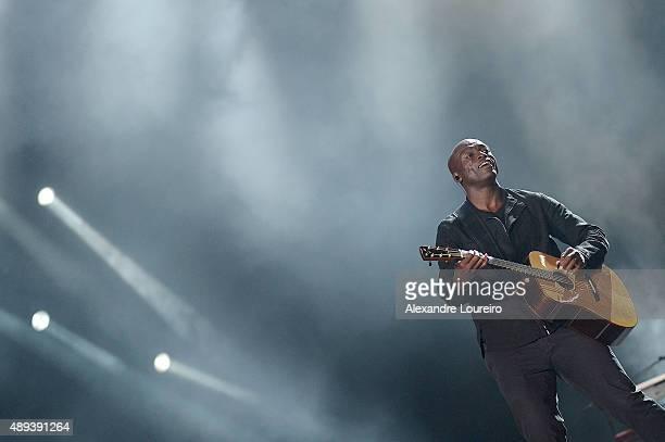 Seal performs at 2015 Rock in Rio on September 20 2015 in Rio de Janeiro Brazil