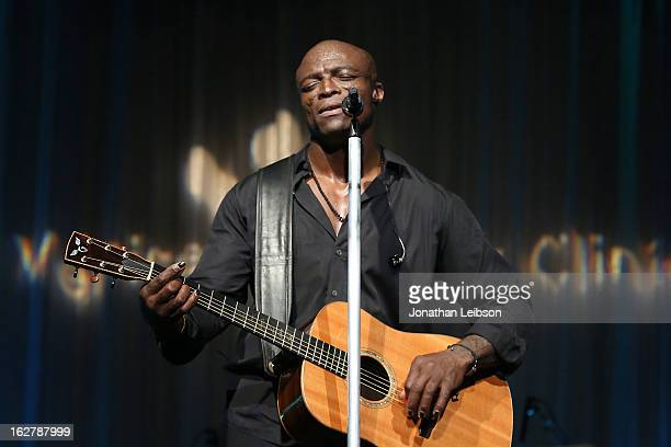 Seal performs at the Silver Circle Gala at the Beverly Wilshire Four Seasons Hotel on February 26 2013 in Beverly Hills California