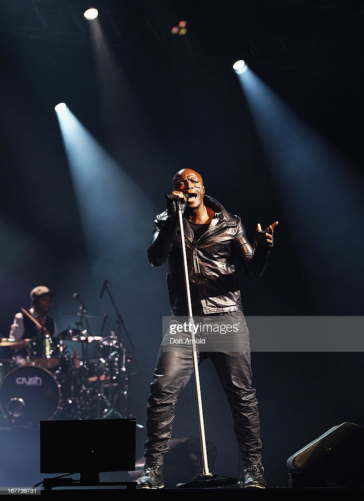 Seal performs live for fans at the Star Event Centre at The Star on April 28, 2013 in Sydney, Australia.