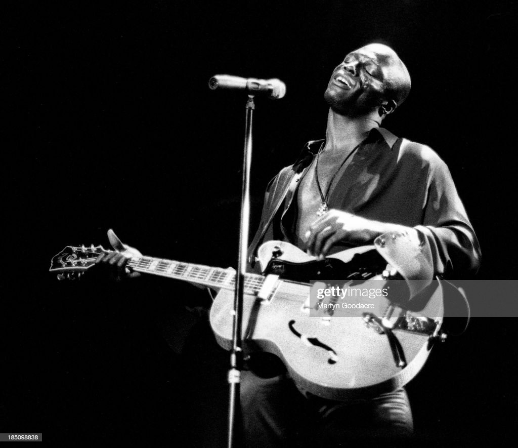 Seal performs on stage at the Hollywood Bowl, Los Angeles, United States, 1995.