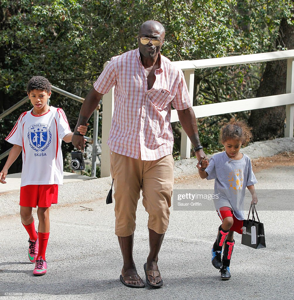 Seal with Lou Samuel and Henry Samuel are seen on February 22 2014 in Los Angeles California