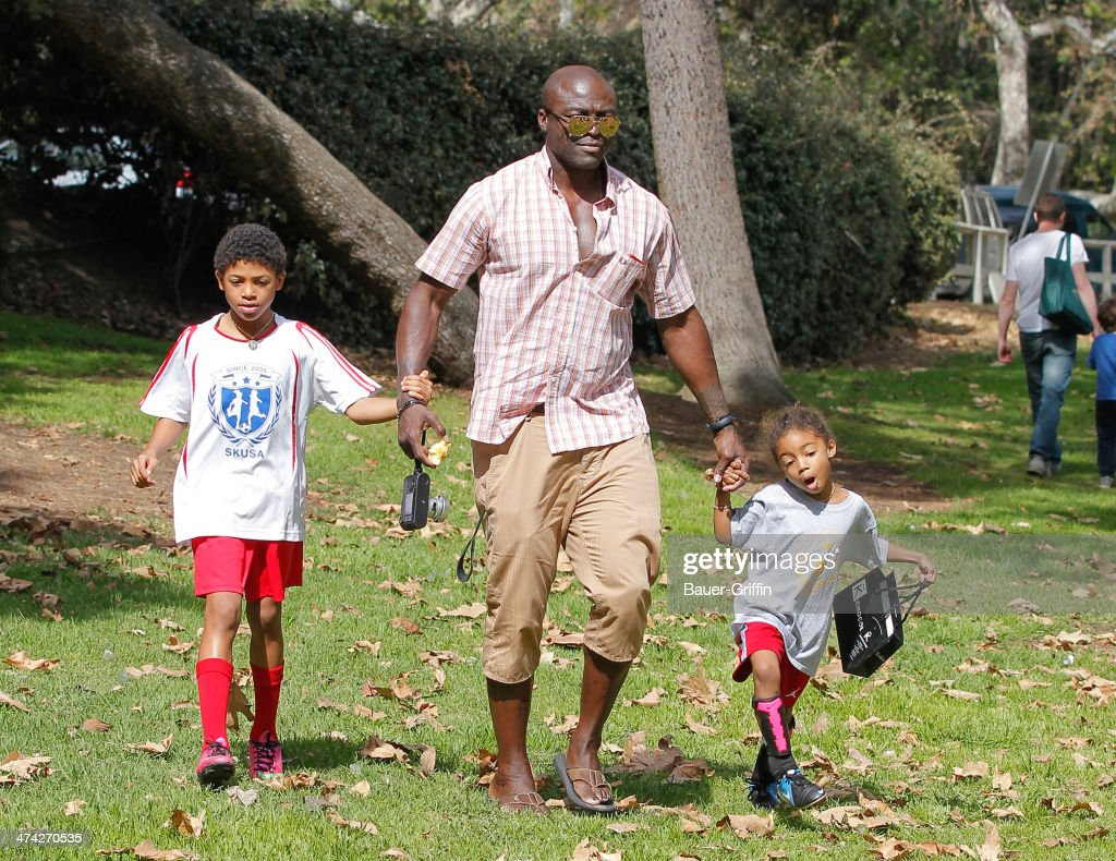 <a gi-track='captionPersonalityLinkClicked' href=/galleries/search?phrase=Seal+-+Singer&family=editorial&specificpeople=202832 ng-click='$event.stopPropagation()'>Seal</a> with Lou Samuel and <a gi-track='captionPersonalityLinkClicked' href=/galleries/search?phrase=Henry+Samuel&family=editorial&specificpeople=3216044 ng-click='$event.stopPropagation()'>Henry Samuel</a> are seen on February 22, 2014 in Los Angeles, California.