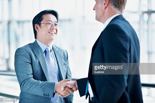Sealing the business deal