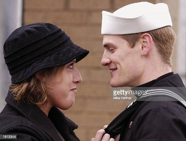 Seaman Chris Hinson of Rock Hill South Carolina and his wife Katherine reunite when his ship the USS Portland returned from the Iraqi theatre to her...