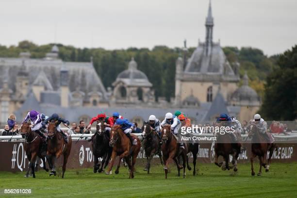 Seamie Heffernan riding Rhododendron win The Prix de l'Opera Longines fom Hydrangea during Prix de l'Arc de Triomphe meeting at Chantilly Racecourse...