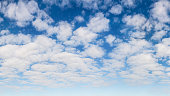 A high resolution, panoramic stratocumulus cloud texture that tiles seamlessly across horizontally. Great for loops.