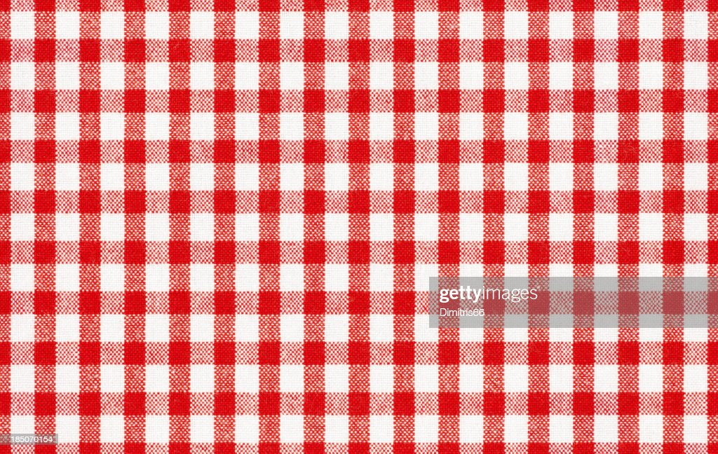 Seamless gingham tablecloth