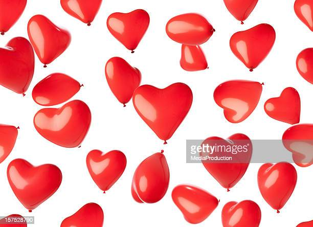 Seamless heart shaped balloons