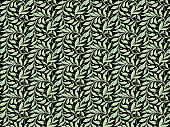 Exagon seamless pattern, black background with pastel green