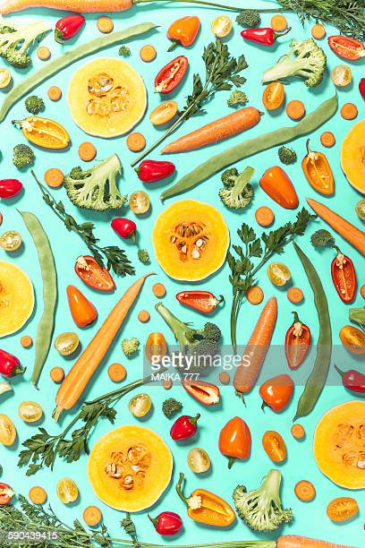 Seamless pattern, with fresh vegetables