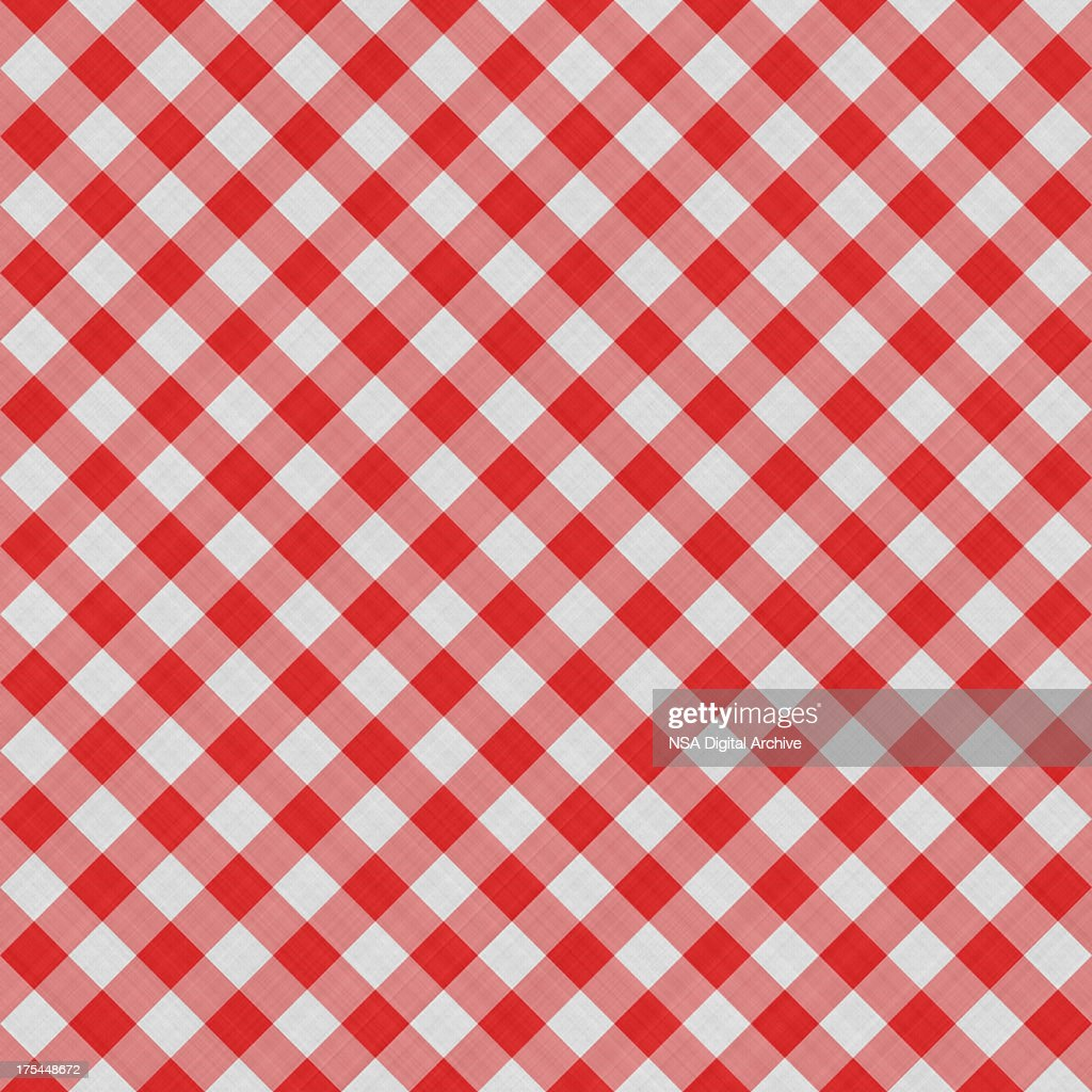 Seamless Squared Tablecloth Gingham Cotton Background | Fabric W
